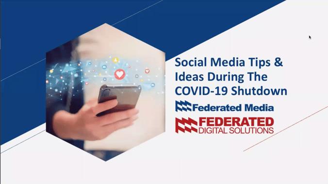 Social Media Tips & Ideas During The COVI-19 Shutdown